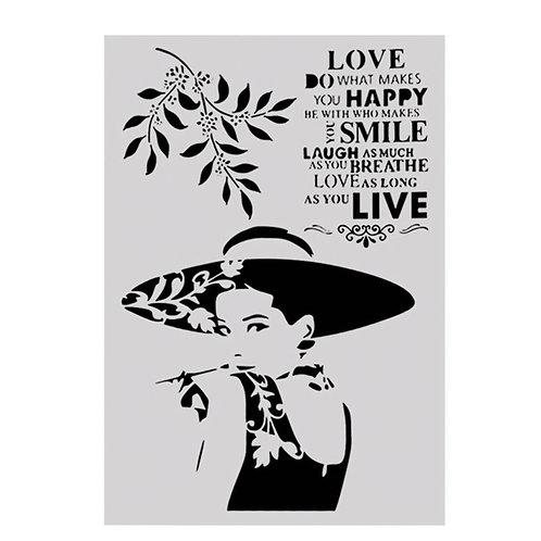 A4 Stencil Love Live Smile
