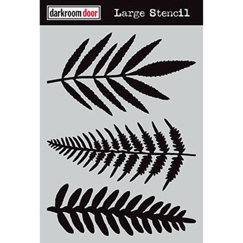 """Darkroom Door Large Stencil - 9x12 """"Ferns"""""""