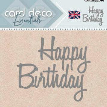 Card Deco Happy Birthday Cutting Die