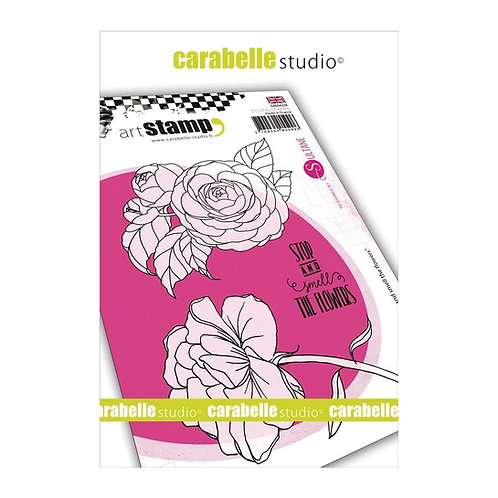 """Carabelle Studio Cling Stamp A6 """"Stop & Smell the Flowers"""" by Kate Crane"""