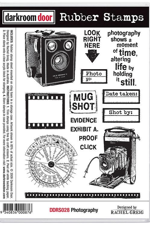"""Darkroom Door - """"Photography""""  Cling Rubber Stamp"""