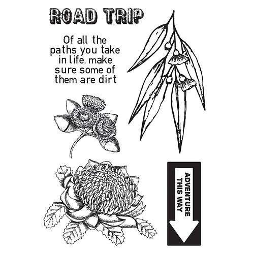 """Kaisercraft """"Open Road"""" Clear Stamps 6""""x4"""""""