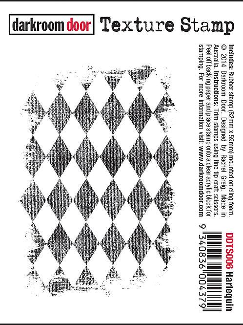 """Darkroom Door - """"Harlequin"""" Texture Rubber Stamp"""