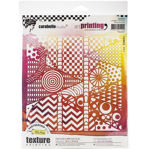 "Carabelle Studio Art Printing Rubber Texture Plate ""Vitrail"""
