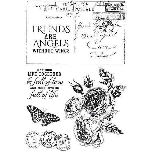 "Kaisercraft ""Rose Avenue"" Clear Stamps 6""x4"""