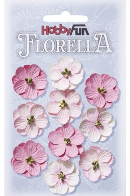 Hobby Fun Florella Mulberry Flowers 10 Pieces