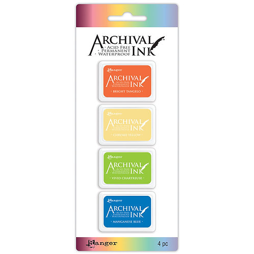 Distress Archival Ink 4pc Mini Ink Pads by Ranger KIT 3