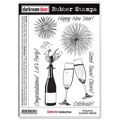Celebration -Darkroom Door Cling Rubber Stamp