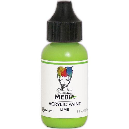"Dina Wakley Media Acrylic Paint 1oz ""Lime"""