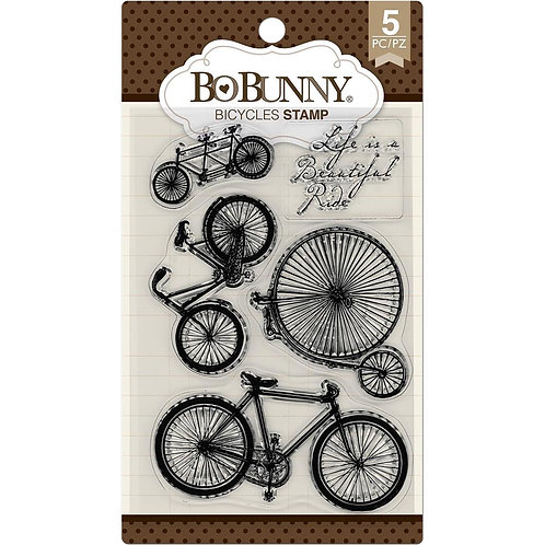"""BoBunny Clear Stamps 4""""X6"""" """"Bicycles"""""""