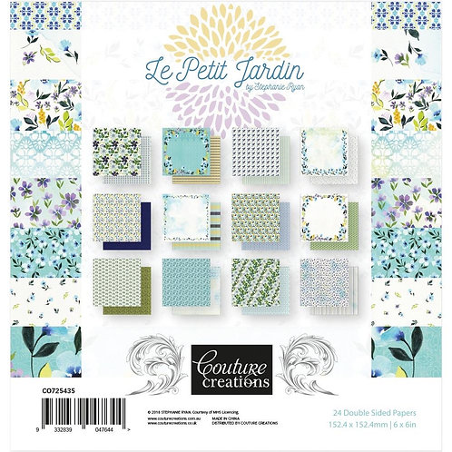 Couture Creations 6x6 Paper Pad 24pages double sided