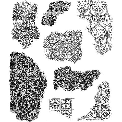 """""""Fragments"""" Tim Holtz Cling Stamps 7""""X8.5"""" by Stampers Anonymous"""
