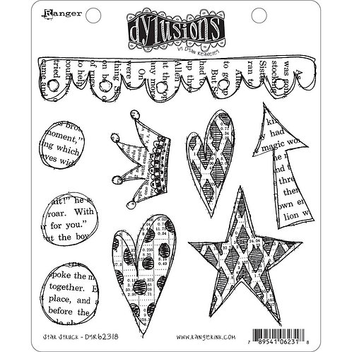 """Dylusions """"Star Struck"""" Cling Rubber Stamps"""