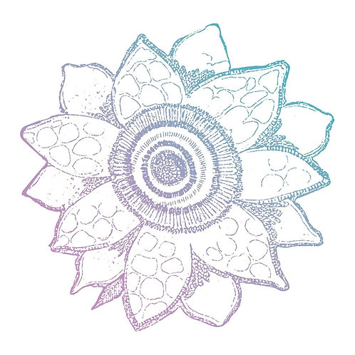 """Couture Creations Clear Stamp 1.9"""" """"Tradional Bloom"""""""