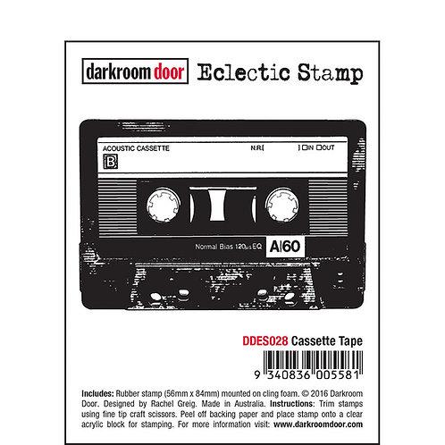 Cassette Tape -Darkroom Door Eclectic Rubber Stamp