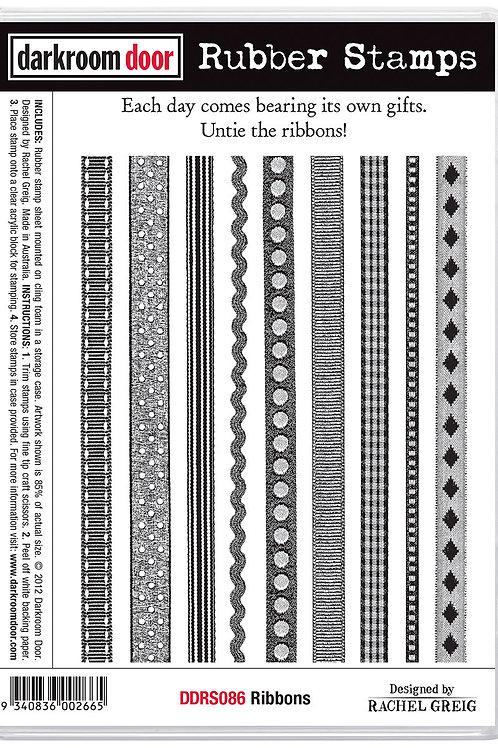 """Darkroom Door - """"Ribbons""""  Cling Rubber Stamp"""