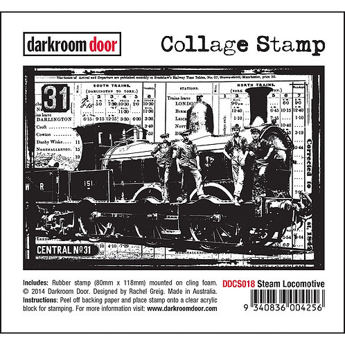 "Darkroom Door Collage Stamp - ""Steam Locomotive"""