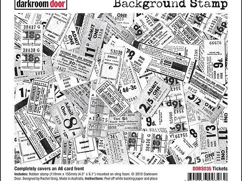 """Darkroom Door - """"Tickets""""   Background Rubber Stamp"""