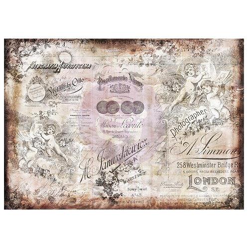 """Romantica Finnabair Mixed Media Tissue Paper 27.5""""X19.7"""" 6/Pkg"""
