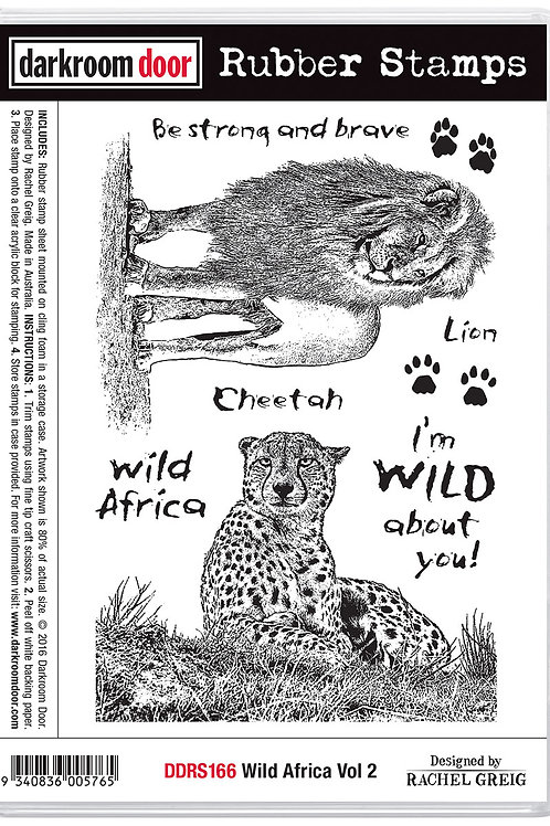"Darkroom Door - ""Wild Africa Vol 2""  Cling Rubber Stamp"