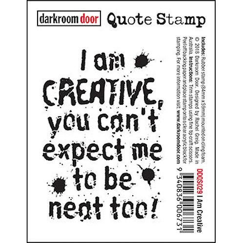 """Darkroom Door - """"I Am Creative"""" Quote Rubber Stamp"""