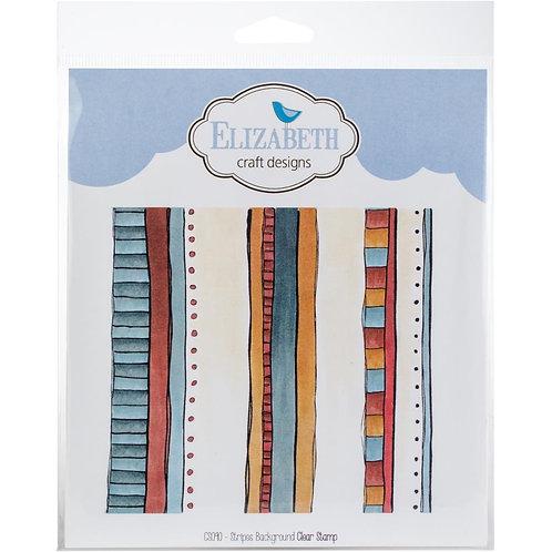 "Elizabeth Craft Clear Stamps 6x6"" ""Stripes Background"""