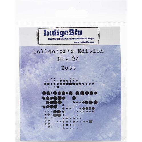 "IndigoBlu ""Dots"" 2"" x 2"" Rubber Stamp"