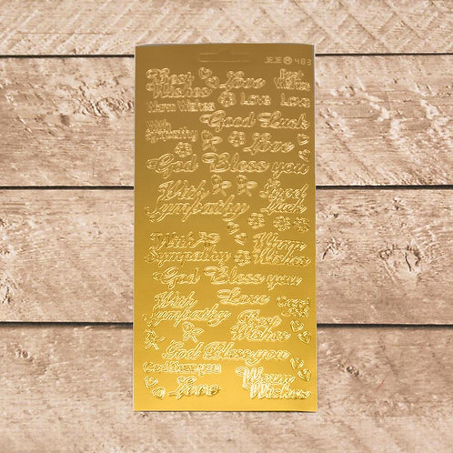 Craft & Scrapbooking Stickers Gold Words