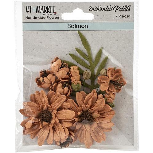 """49 Market Enchanted Petals 7 pcs """"Salmon"""""""