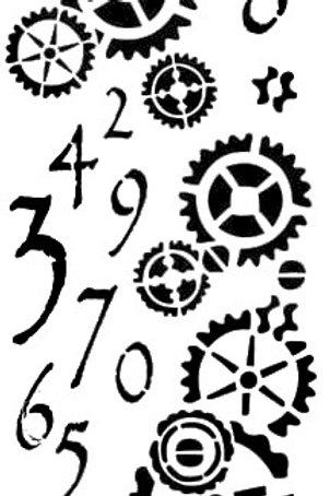 Art Stencil Plastic Stencil - Count Clocks 250X100mm