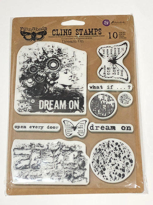 """Finnabair Cling Stamp - """"Dream On"""" 10 pieces by Prima Marketing"""