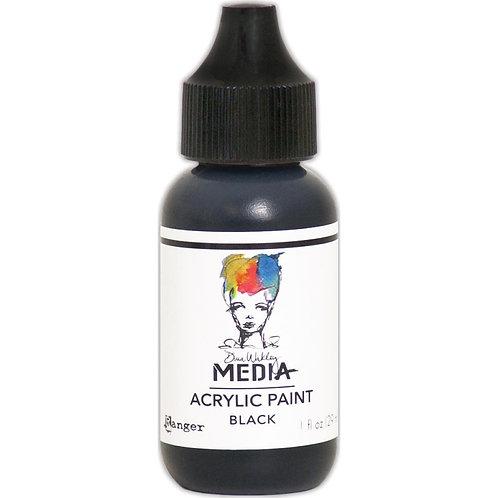 "Dina Wakley Media Acrylic Paint 1oz ""Black"""