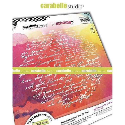 """Correspondances"" Carabelle Studio Art Printing Rubber Texture Plate"