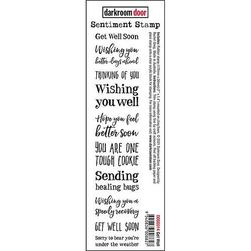 Darkroom Door - Get Well Sentiment Rubber Stamp