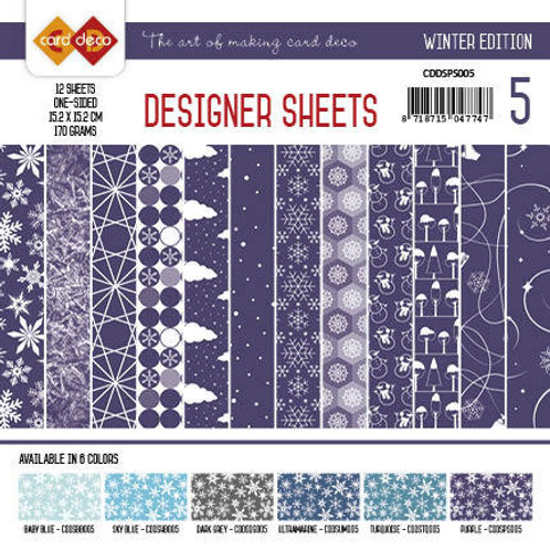 Card Deco - Designer Sheets 6X6 - 12 Sheets per pack