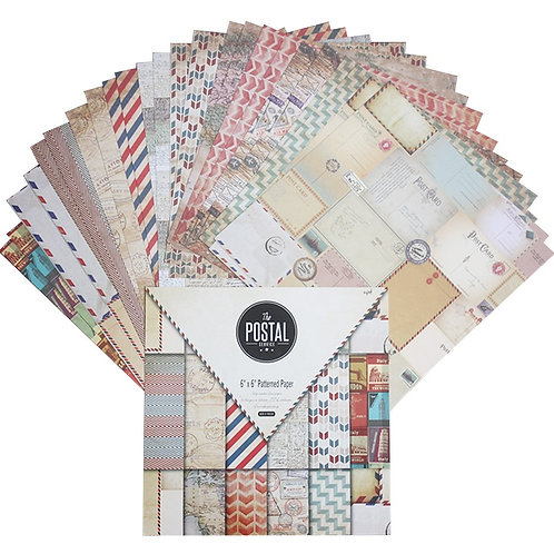 "6x6 inch ""The Postal Service"" Design Paper Pack"