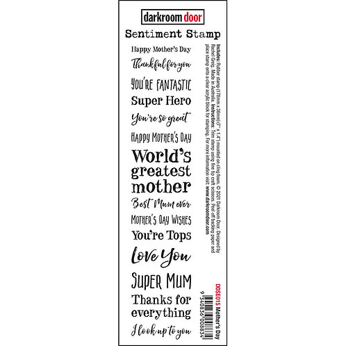 Darkroom Door - Mothers Day Sentiment Rubber Stamp