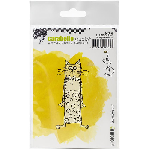 "Carabelle Studio Cling Stamp Small ""Little Kooky Cat"""