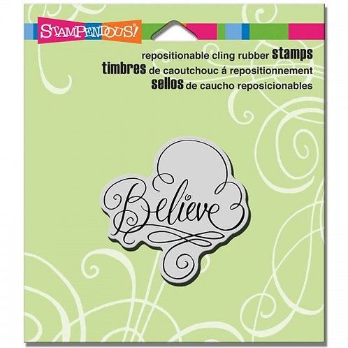 Believe Stampendous Cling Mount Rubber Stamps