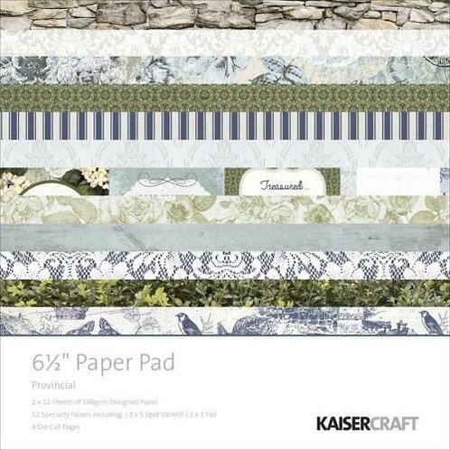 "Kaisercraft  6.5""x 6.5"" Paper Pad 24 pages ""Provincial"""