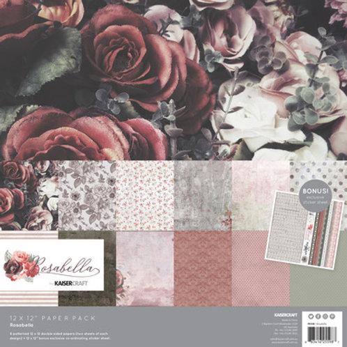 "Kaisercraft 12x12 Paper Pack with Bonus Sticker Sheet ""Rosabella"""