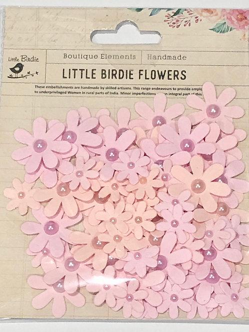 Little Birdie Pearl Florettes Blush 80pk