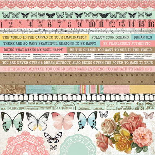 "Kaisercraft 12x12 Sticker Sheet ""Scrap Studio"""