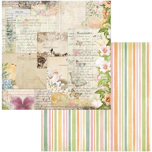 "BoBunny Botanical Grove Postcards Double-Sided Cardstock 12""X12"""