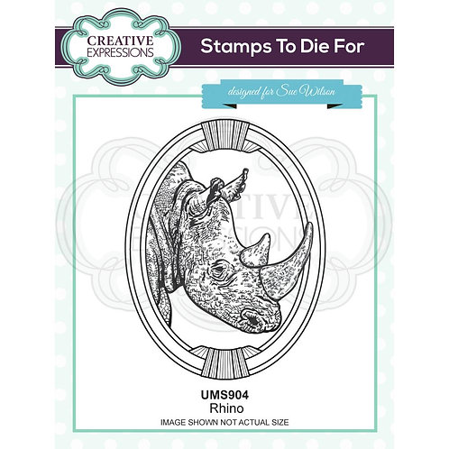 Creative Expressions Rubber Rhino Stamp By Sue Wilson