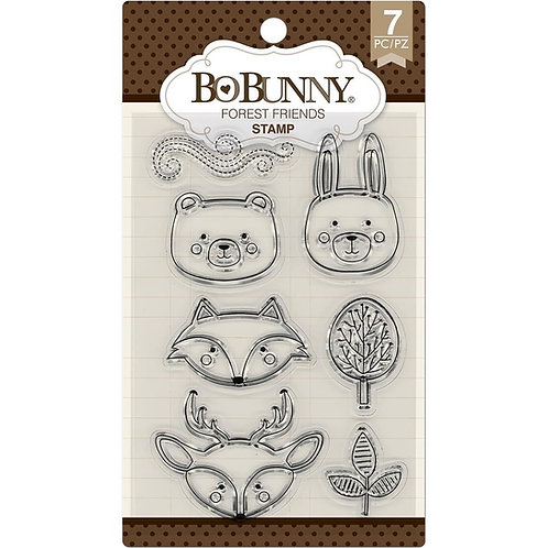 """BoBunny Clear Stamps 4""""X6"""" """"Forest Friends"""""""