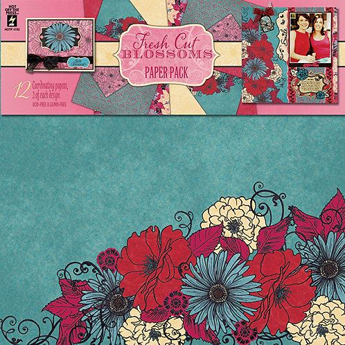 Fresh Cut Blossoms Paper Pack 12pk