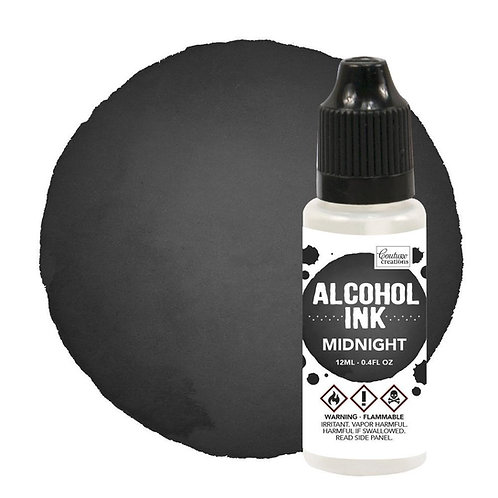 """""""Pitch Black / Midnight"""" Couture Creations Alcohol Ink 12ml"""
