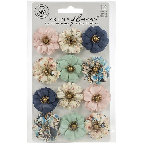 Prima Marketing  Paper Flowers 12 Pieces