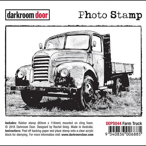 """Darkroom Door - """"Farm Truck"""" Photo Rubber Stamp"""
